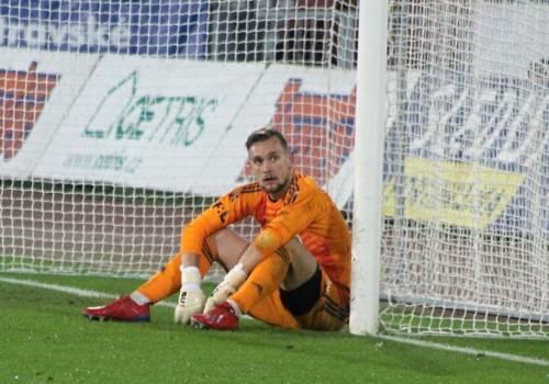 Martin Pastornicky trzykrotnie musiał wyciągać piłkę z siatki, fot. facebook.com/mfkkarvina