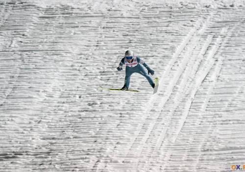 Kacper Juroszek zakończył sobotni konkurs na 15. miejscu, fot. Bartłomiej Kukucz