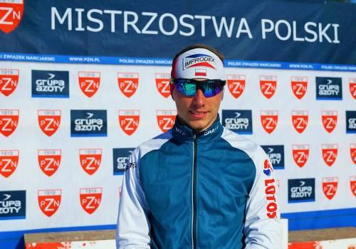 Dominik Bury, jako jedyny dotąd spośród polskich biegaczy, sięgnął po punkty do klasyfikacji generalnej Pucharu Świata, fot. PZN/Anna Karczewska