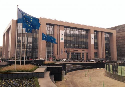 Justus Lipsius - budynek pomocniczy Rady Europejskiej, czyli instytucji, w której zasiadają prezydenci i premierzy państw członkowskich Unii Europejskiej. Fot. KR/ox.pl