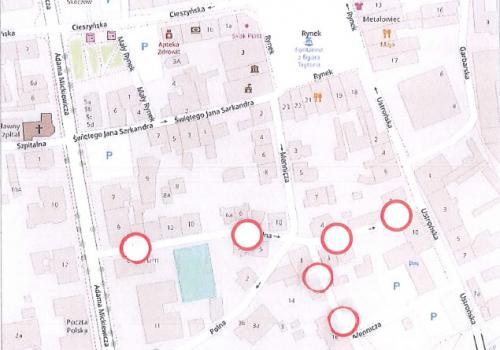 mapka udostępniona przez Gminę Skoczów