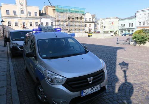 SM w Skoczowie podczas akcji informacyjnej/ fot. Gmina Skoczów