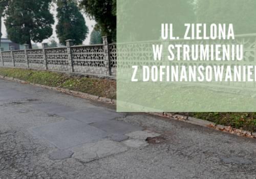 ulica Zielona przed remontem/ fot. UG Strumień