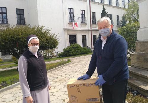 Podkłady przekazał pastor Karol Macura, proboszcz drogomyskiej parafii. Źródło: facebook.com/parafiaewdrogomysl