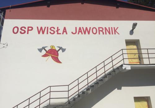 Tak pięknieje budynek OSP w Wiśle Jaworniku fot. mat.pras.