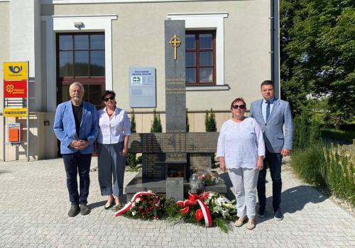 Od lewej: Andrzej Niedoba, Izabella Wołłejko-Chwastowicz, Helena Legowicz, Przemysław Koperski. Fot. mat. pras.