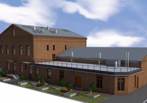 Wizualizacja budynku Gminnego Ośrodka Kultury w Chybiu po remoncie. Źródło: facebook.com/gminachybie