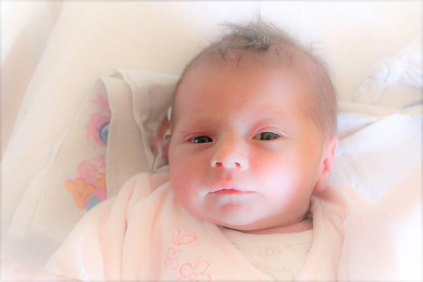 Emilia Gozdecka z Cieszyna, córka Izy i Łukasza