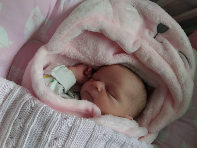 Alicja Dadok, córka Agnieszki z Puńcowa, urodzona 15.11.2019. Fot: rodzice