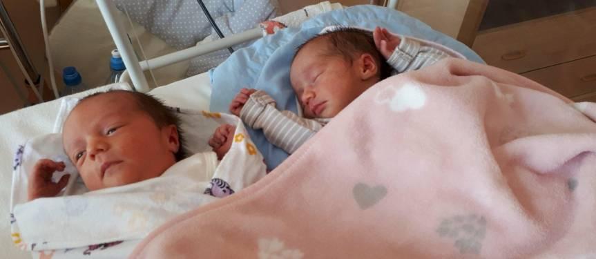 Otylia i Marlena Gomola z Ustronia, córki Anety i Sebastiana Fot: nadesłane przez rodziców