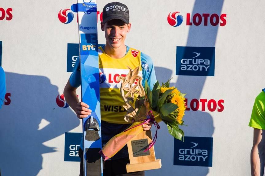 Timi Zajc zwyciężył w Wiśle podczas tegorocznego Letniego Grand Prix, fot. Bartłomiej Kukucz