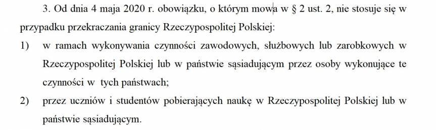 art. 2 ust. 2 mówi między innymi o obowiązku odbycia 14-dniowej kwarantanny - przyp. red.