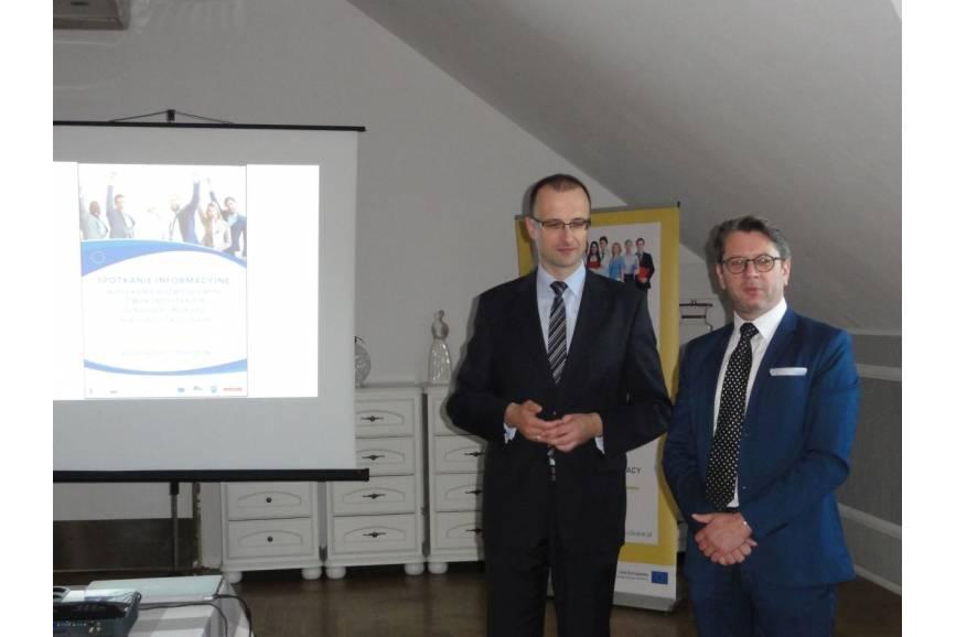 Spotkanie Grzegorza Sikorskiego z Grzegorzem Sikorskim / fot. WUP Katowice