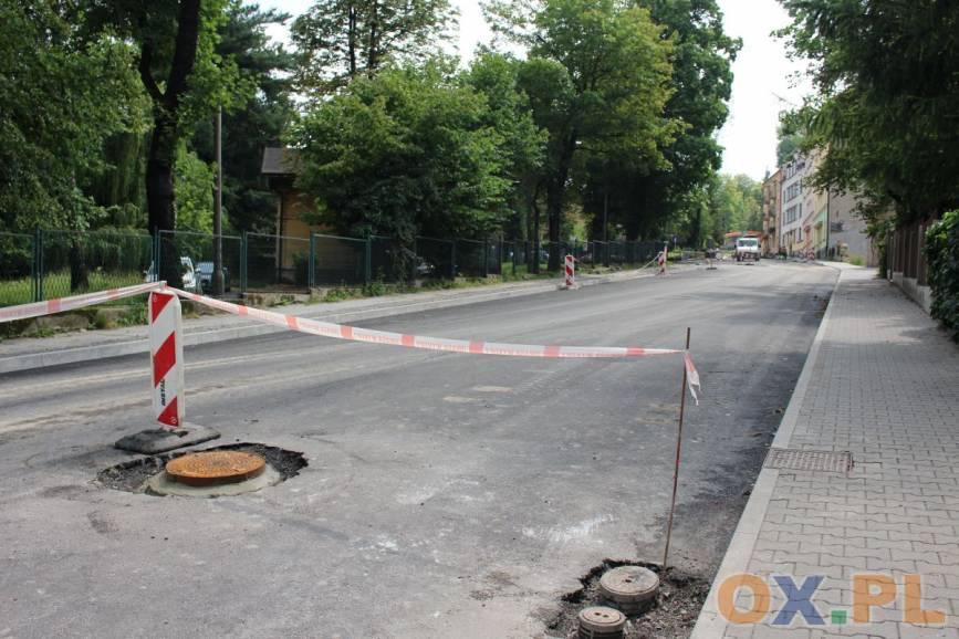 Dodatkowe utrudnienia na ul. Solnej w Cieszynie / fot. MSZ