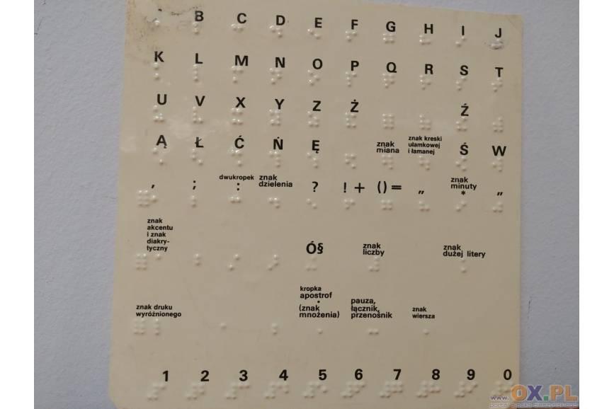 fot.:  Alfabet Braille'a, ES/OX.PL