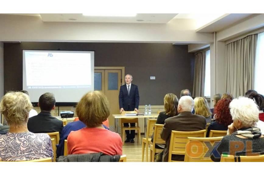 Ryszard Macura podczas spotkania wyborczego. Fot: MsZ