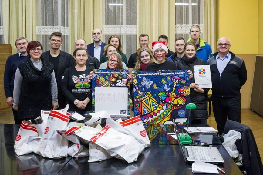 Sztab WOŚP w Skoczowie / fot. B. Kukucz