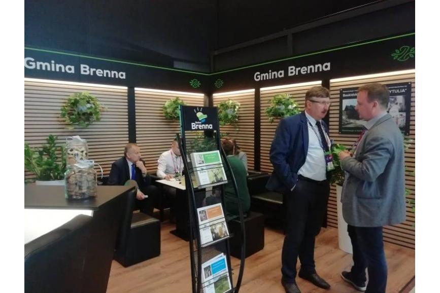 Stoisko Gminy Brenna na Europejskim Kongresie Gospodarczym / źródło: facebook.com/brenna.gmina