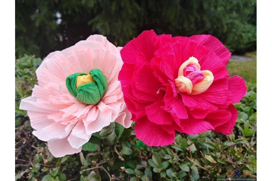 Kwiaty z bibuły wykonane przez osobę słabowidzącą, fot. ES/OX.PL