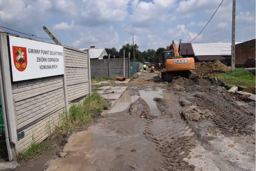 Prace związane z budową drogi już trwają. Fot: UG Jasienica