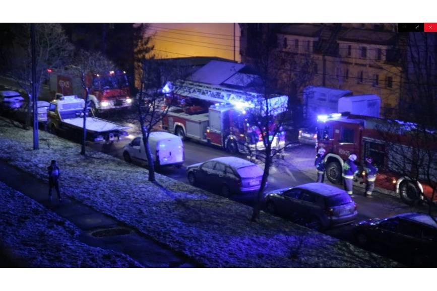 akcja straży na osiedlu Lubirnia/ fot. DB