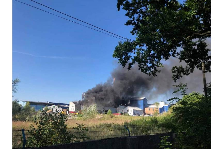 Pożar cukrowni / fot. Przemysław Major