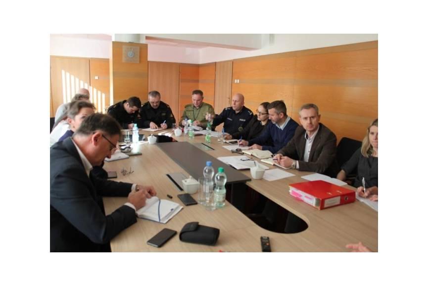 Powiatowy Zespół Zarządzania Kryzysowego / fot. mat.pras.